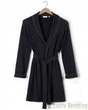 Халат унисекс Mark Heathered Knitted Robe (Марк Хэзеред Ниттед Роуб) (S; M; L; XL) Антрацит от Casual Avenue