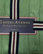 Плед Messina 130х170 Серо-зеленый от Casual Avenue